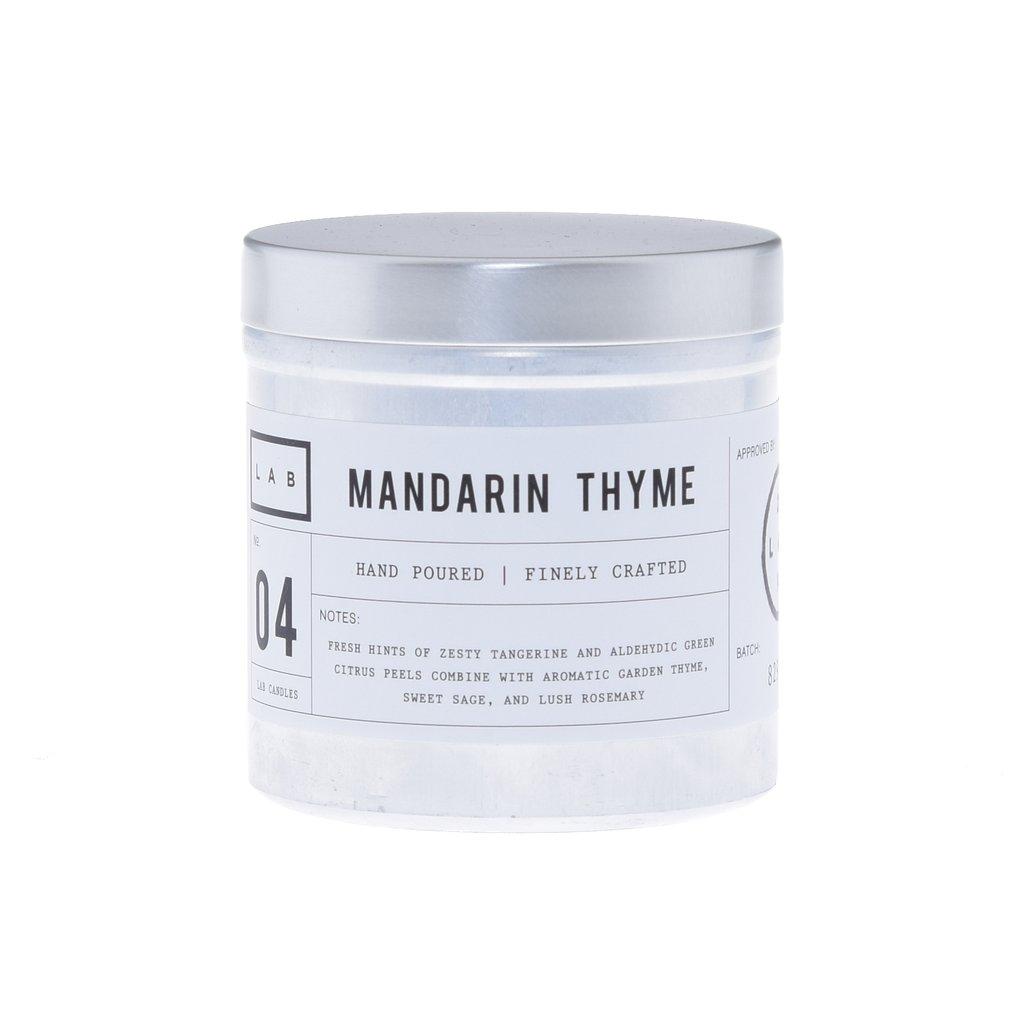 נר בכלי אלומיניום כסוף - Mandarin Thyme