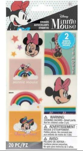 מדבקות - Disney MINNIE MOUSE RAINBOW Stickers