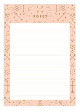 דפי ממו A5 שורות- Totem A5 Notepad