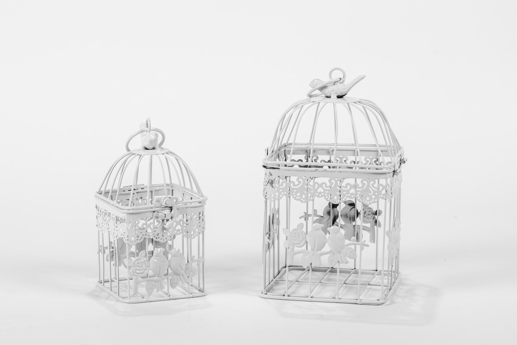 זוג כלובים - ציפורים מרובע