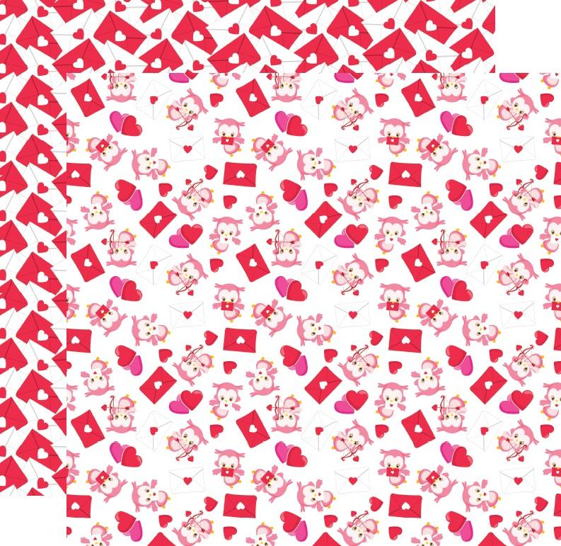 דף קארדסטוק - ינשופים מאוהבים - ינשופים ומכתבים