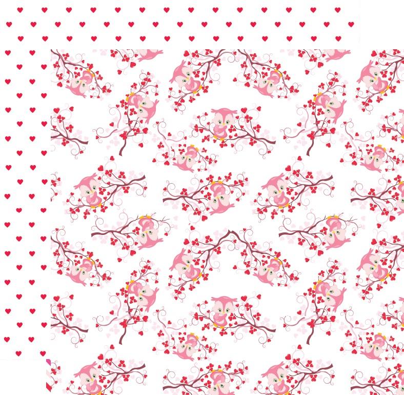 דף קארדסטוק - ינשופים מאוהבים - ינשוף על ענף