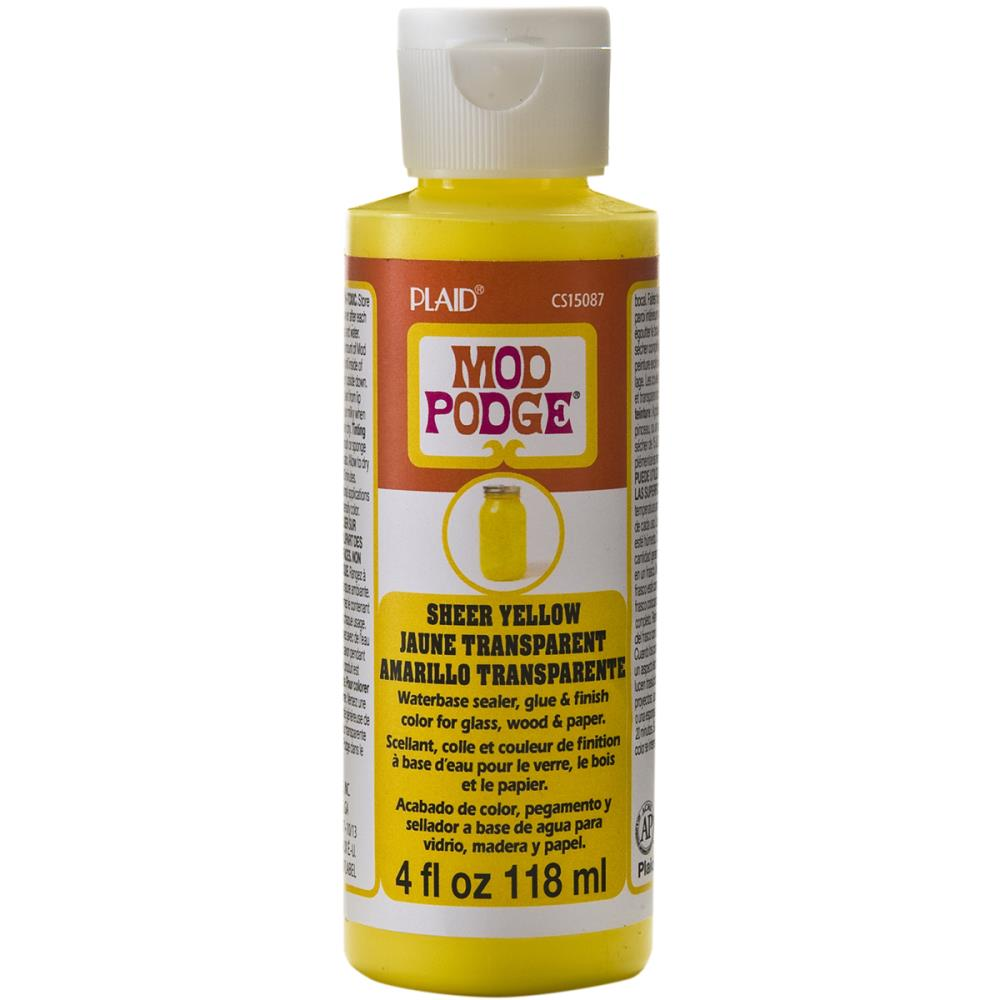Mod Podge Sheer Color 4oz - Yellow