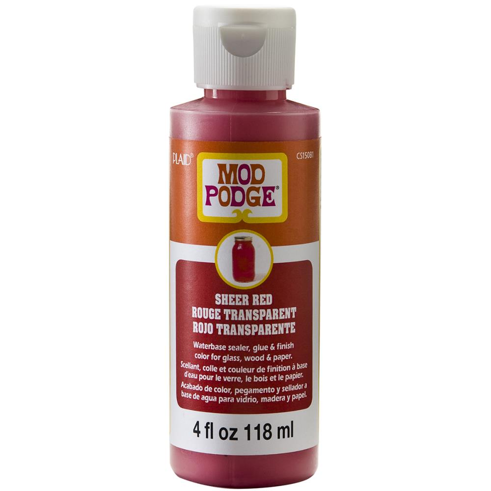 Mod Podge Sheer Color 4oz - Red