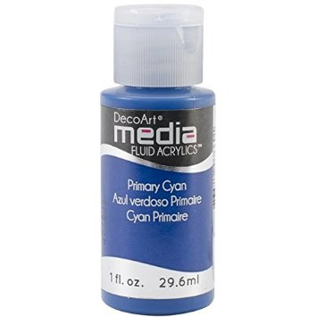 DecoArt Media Fluid Acrylic Paint - Primary Cyan