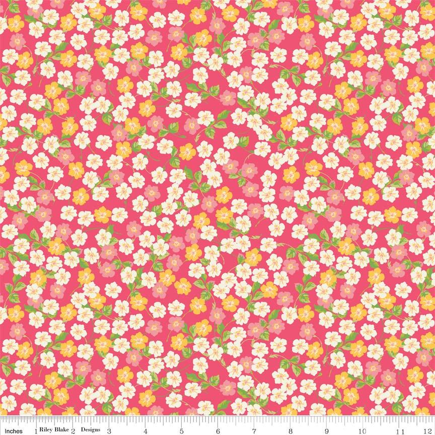 בד כותנה - C4322 - Floribella Floral Pink