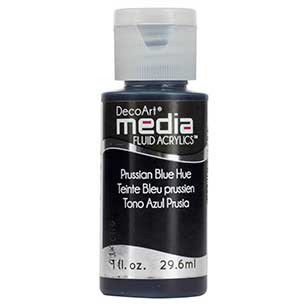 DecoArt Media Fluid Acrylic Paint - Prussian Blue Hue
