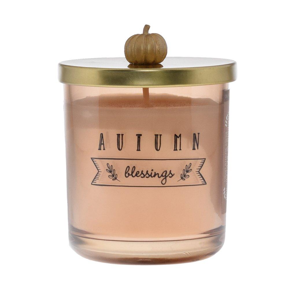 נר עם מכסה וידית דלעת - Pumkin & Peppercorn (Autumn Blessings)