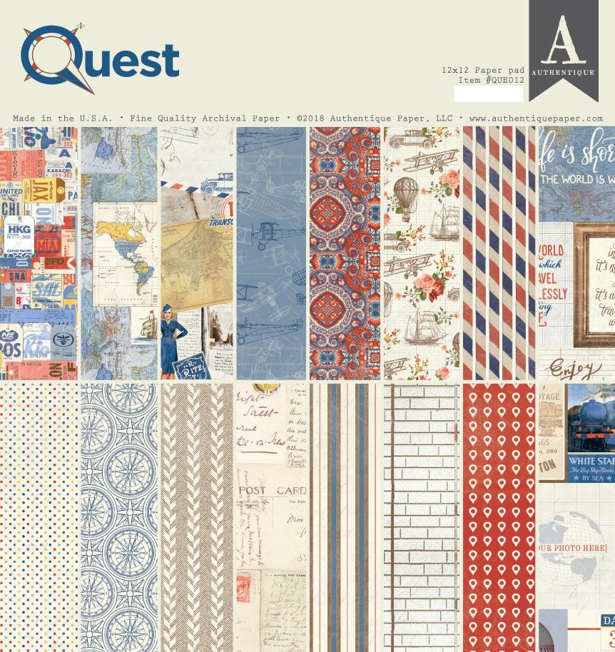 מארז דפי קארדסטוק - Quest 12X12 Paper Pad