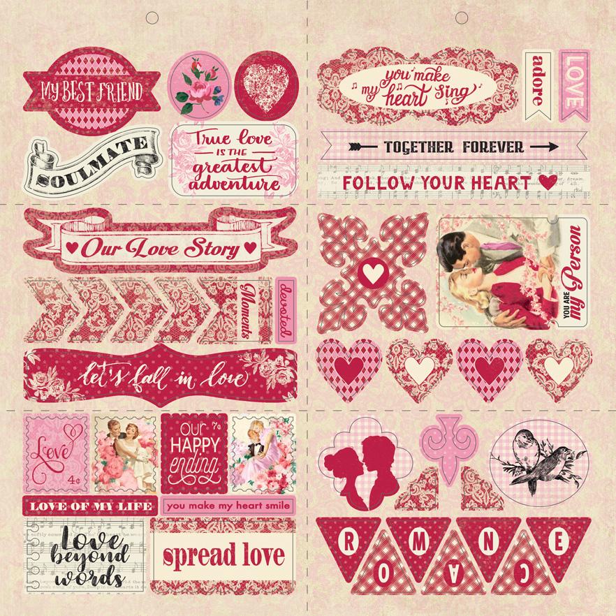 חיתוכי קארדסטוק - Romance Elements - Cardstock Die Cut