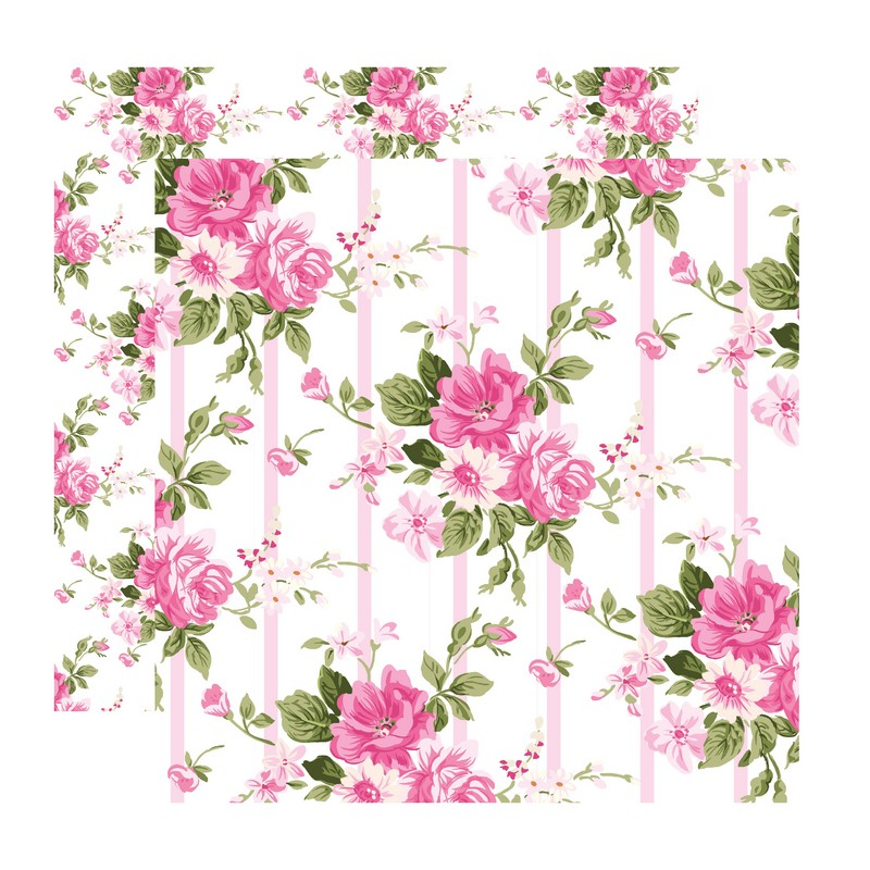 דף קארדסטוק- Romantic Spring-פריחה רומנטית