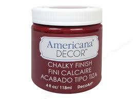 Americana Decor Chalky Finish Paint 118 ml - Rouge