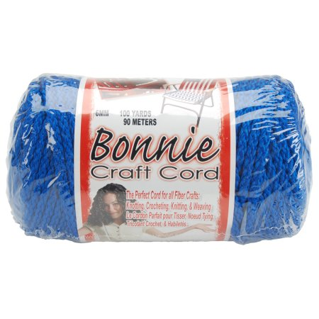 Macrame Craft Cord 6mmX100yd - Royal Blue