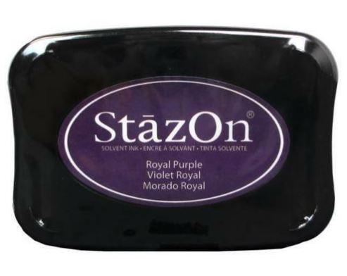 דיו יבש StazOn Solvent Ink Pad - Royal Purple