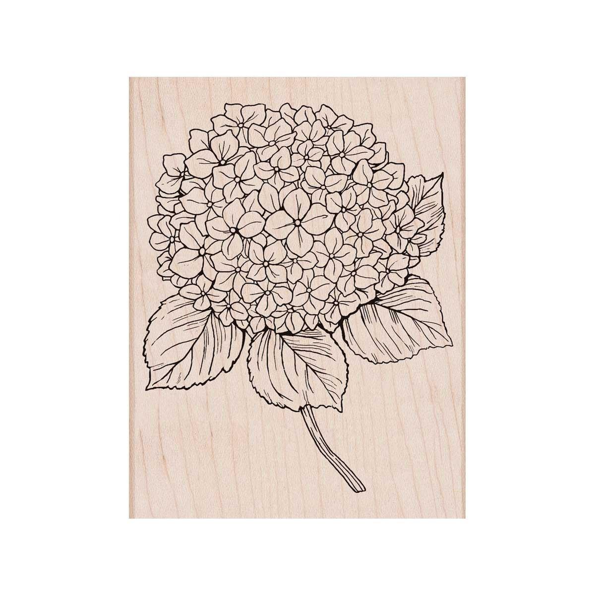 חותמת עץ - LARGE HYDRANGEA