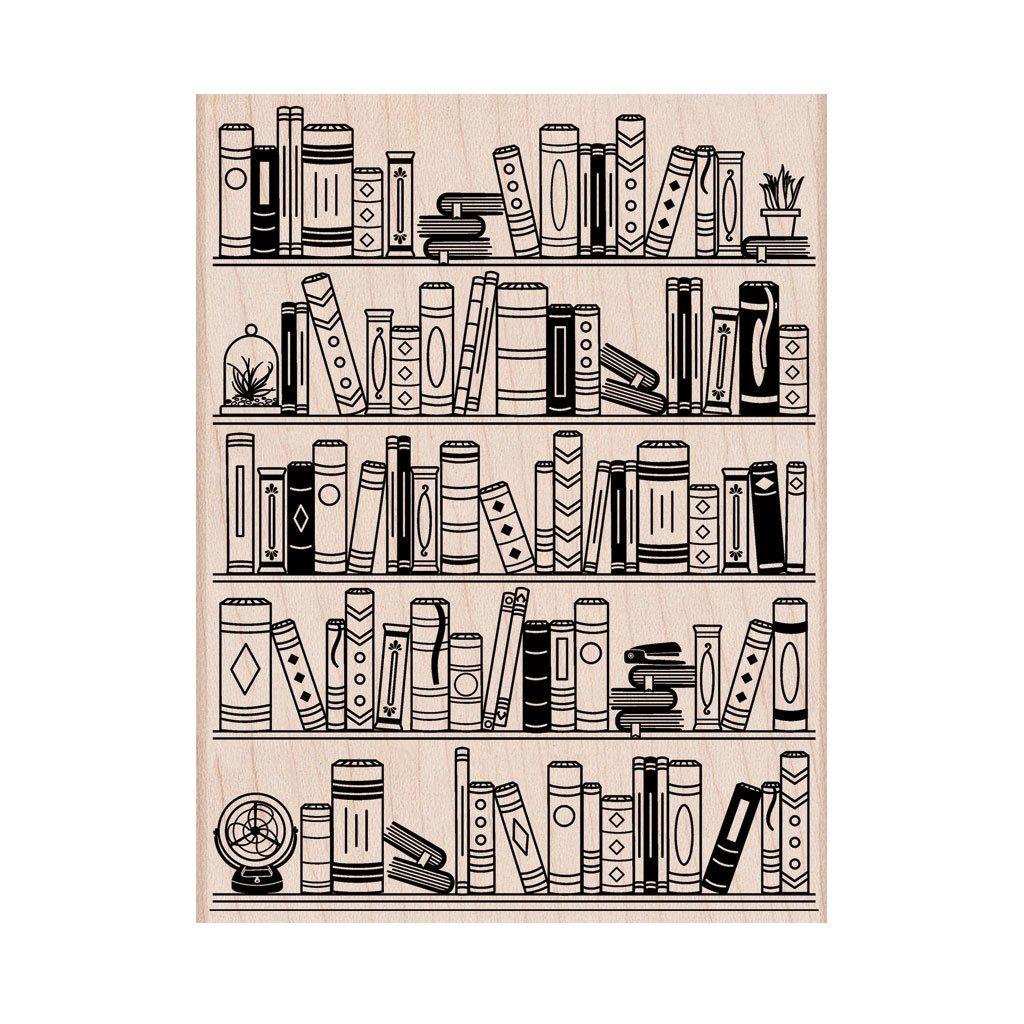 חותמת עץ - BOOKCASE