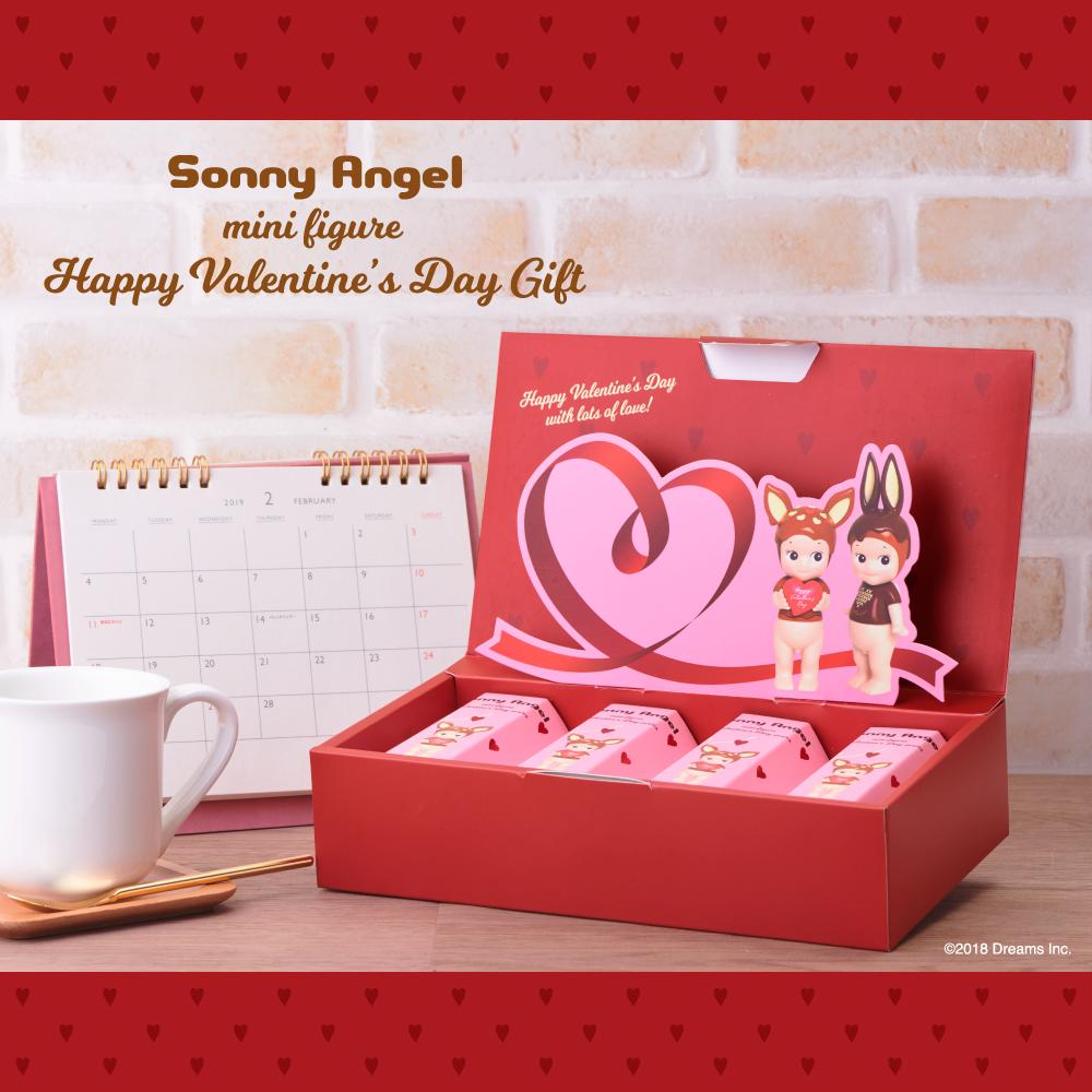 מארז מתנה של 4 בובות - Sonny Angel- Valentine's Day 2019