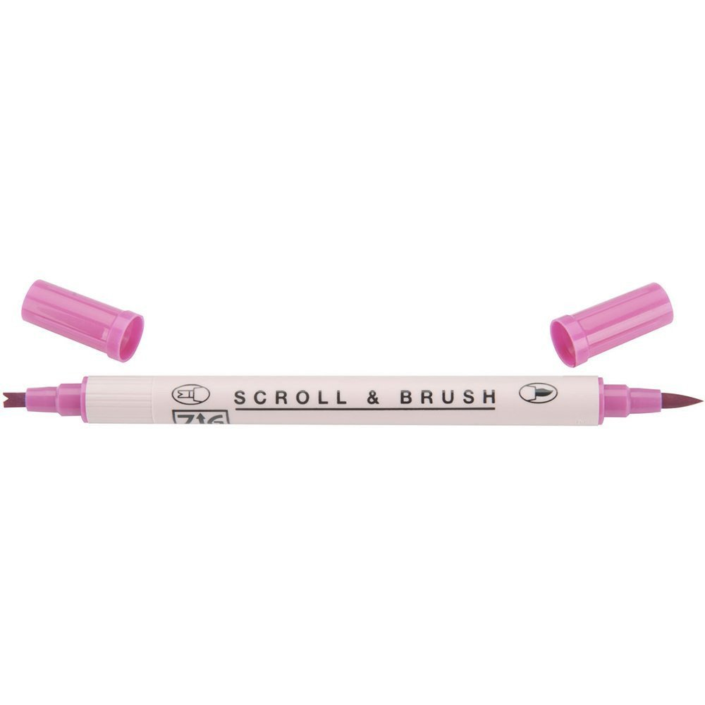 Zig Scroll & Brush Marker - Pure Pink 025