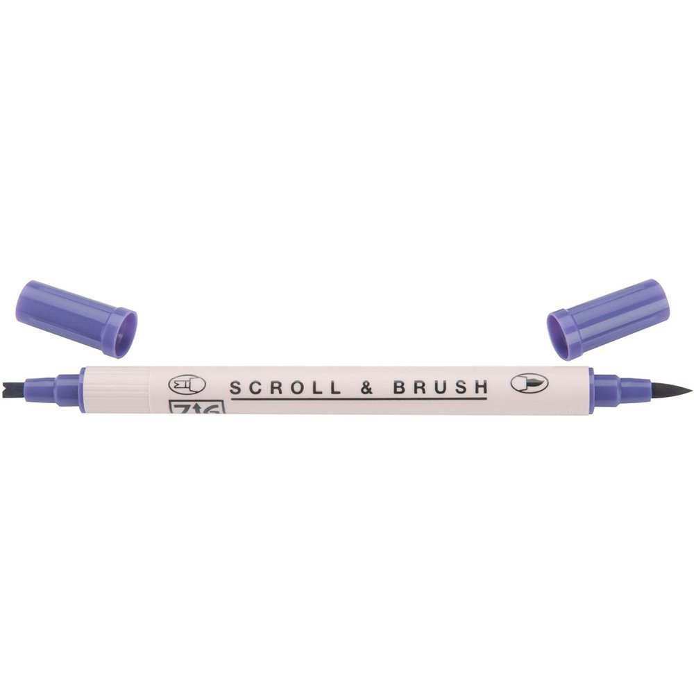 Zig Scroll & Brush Marker - Pure Violet 080