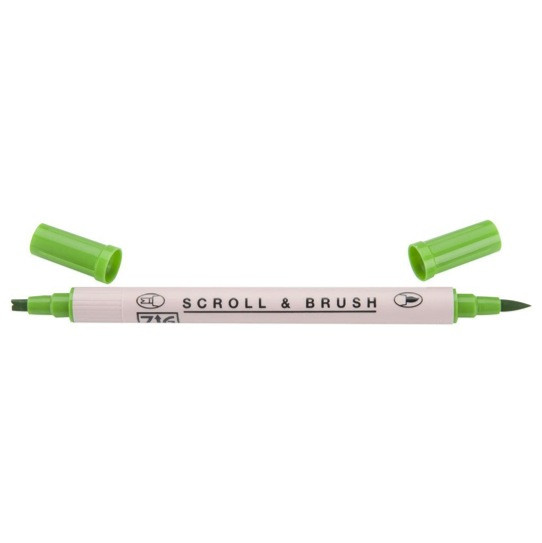 Zig Scroll & Brush Marker - Spring Green 047