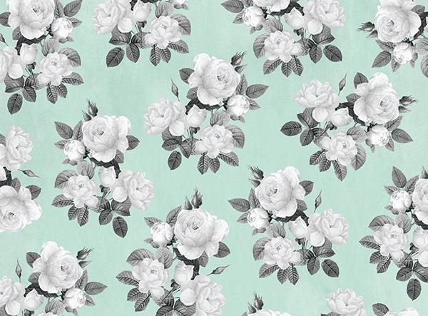Designer Poster Board - Mint Floral