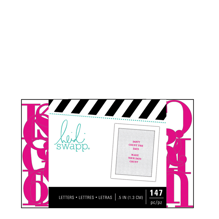 "Heidi Swapp Letterboard - Alphabet 0.5"" Serif Pink"