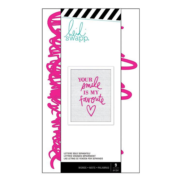 Heidi Swapp Letterboard - Word Set - Love Pink