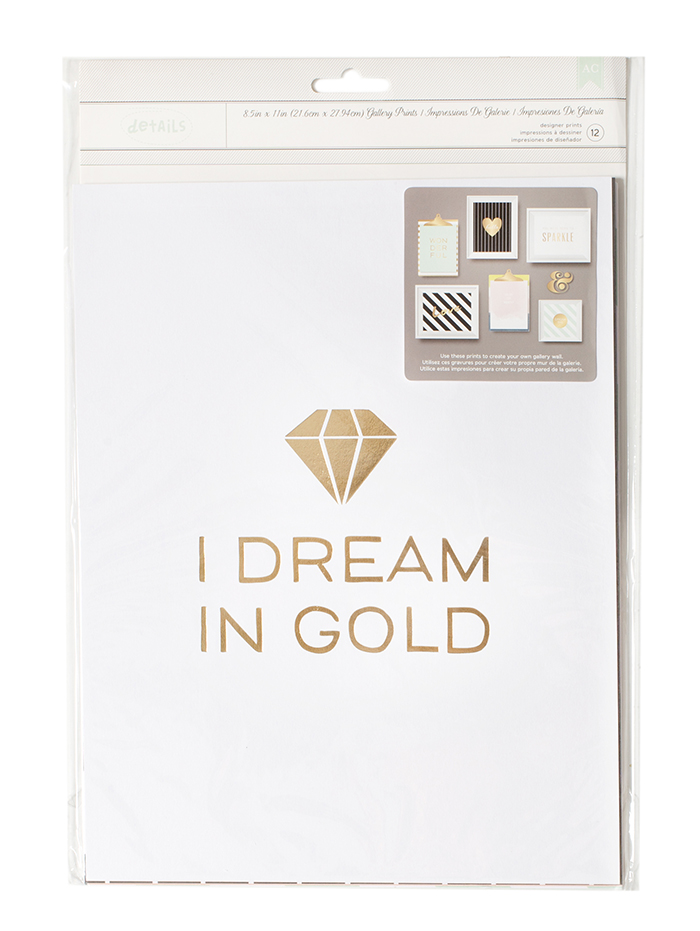 Gallery Wall Packs - I Dream In Gold