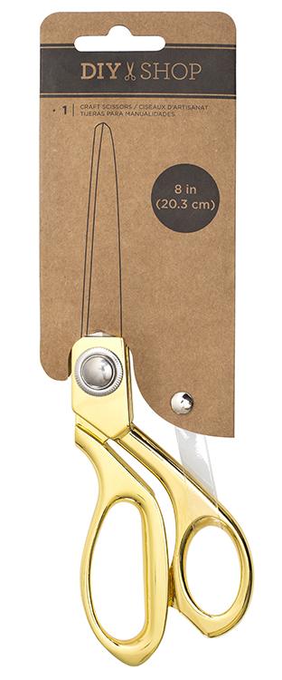 """מספריים לנייר DIY Shop 3 Collection - Scissor 8"""" - Gold"""