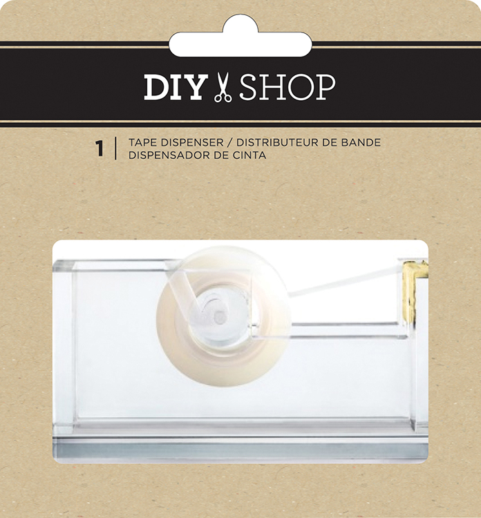 מתקן לסלוטייפ - DIY Shop - Clear Acrylic Tape Dispenser