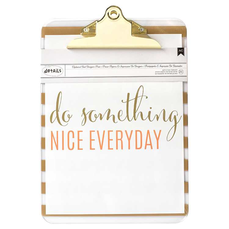 "Clipboard with Print 9X12.5"" - Something Nice"