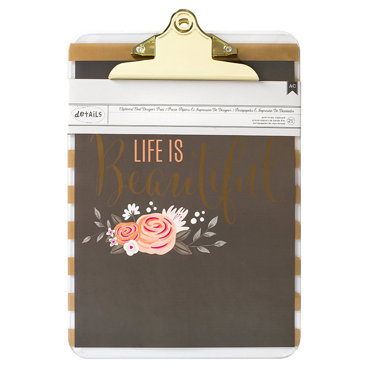 "Clipboard with Print 9X12.5"" - Beautiful"