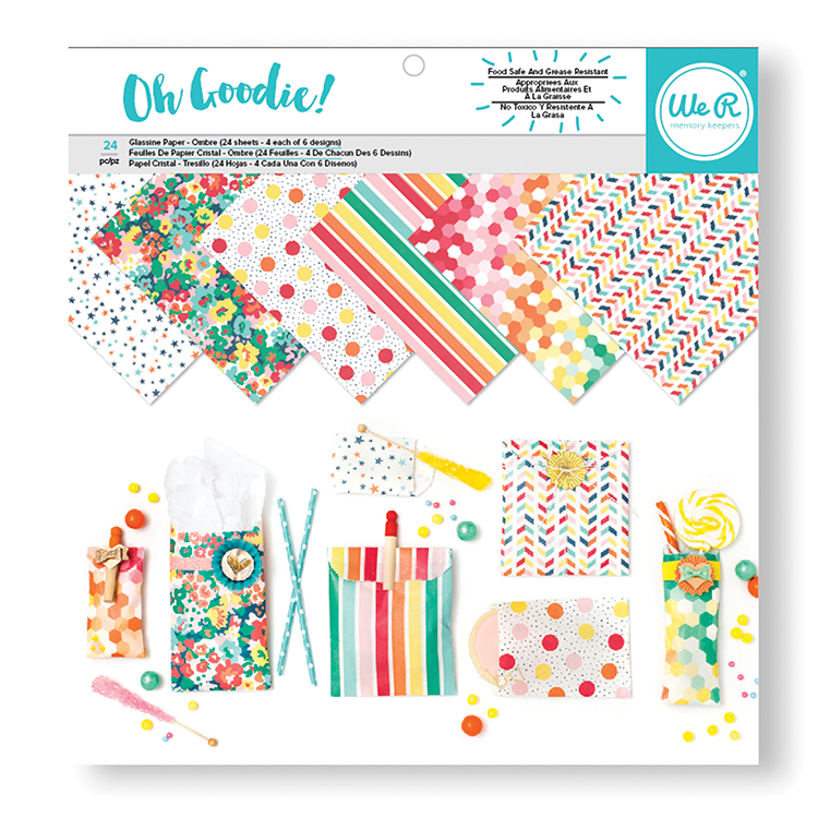 Oh Goodie Collection - 12 x 12 Paper Pad - Glassine Pattern