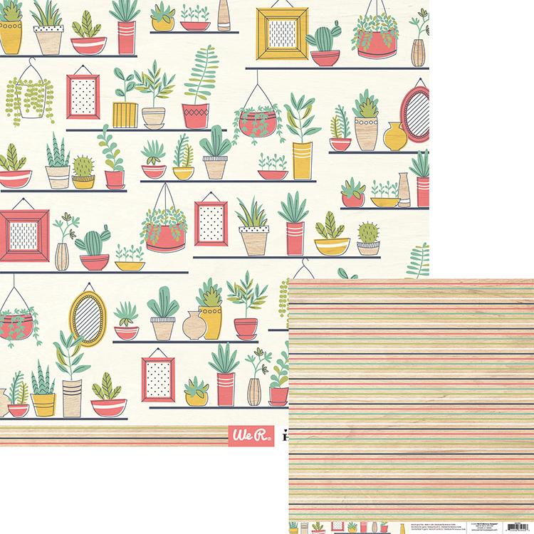 דף קארדסטוק - Honey Im Home Collection - Im Home