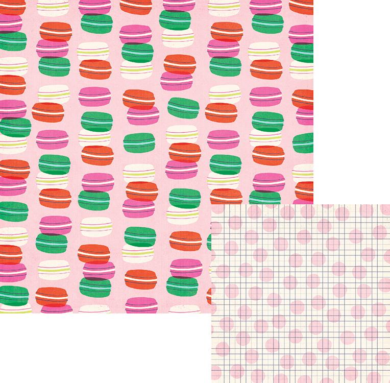 דף קארדסטוק - Flower Girl Collection - Sweets