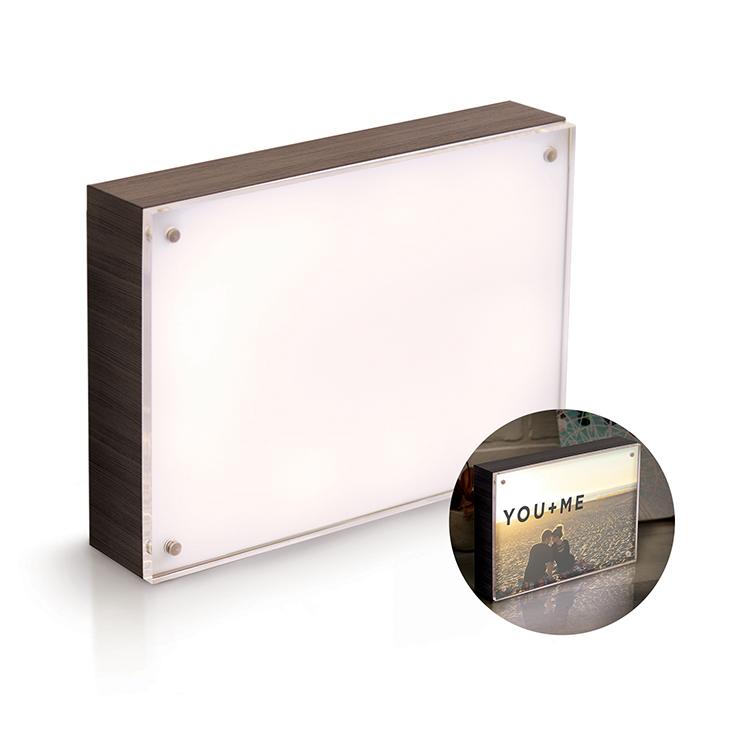 Photo Lights Collection - Acrylic Wood Frame - 5X7 - Ebony