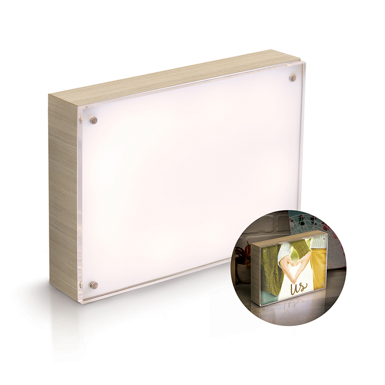 Photo Lights Collection - Acrylic Wood Frame - 5X7 - Natural