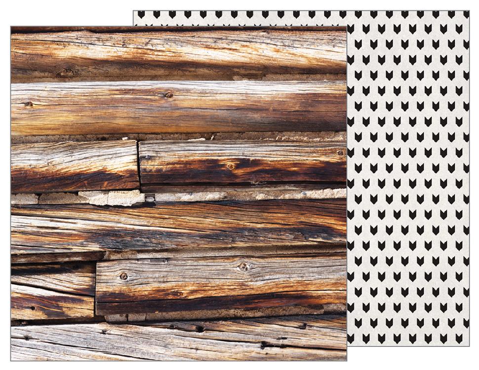 דף קארדסטוק - Warm and Cozy - Log Cabin