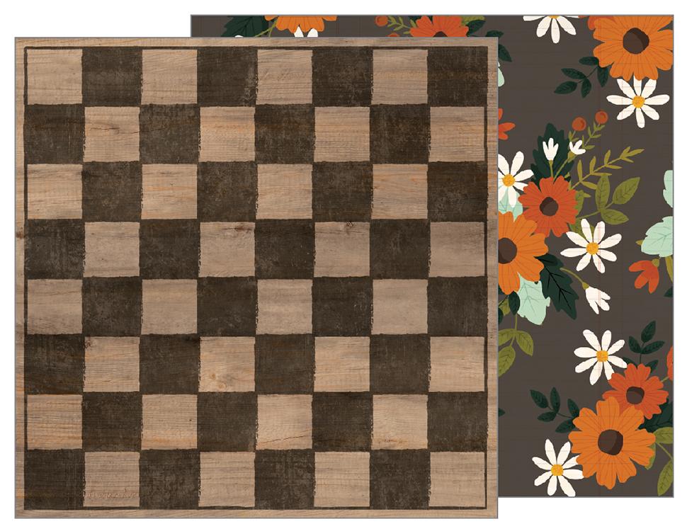 דף קארדסטוק - Warm and Cozy - Checkerboard