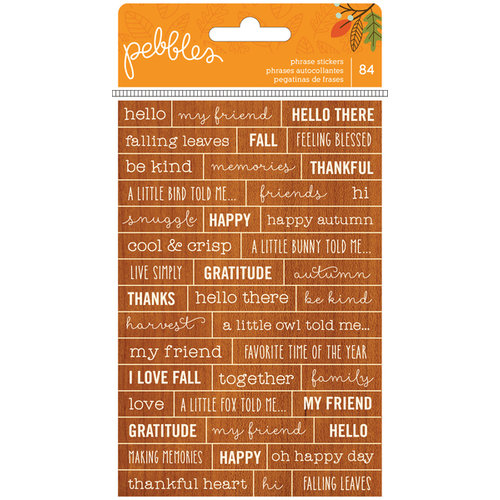 Woodland Forest - Cardstock Stickers - Phrases