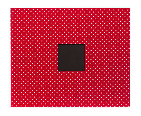 Patterned Album - 12X12 D-Ring - Cardinal Dots
