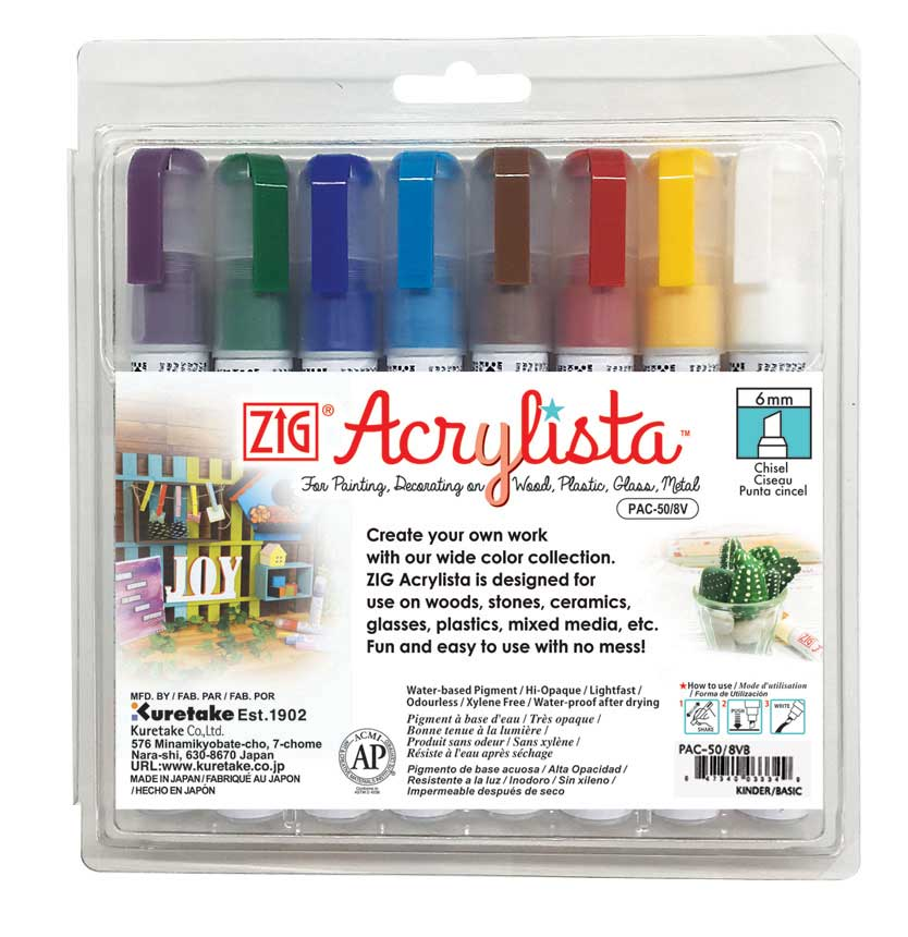 מארז Zig Acrylista 6 mm Kinder & Basic