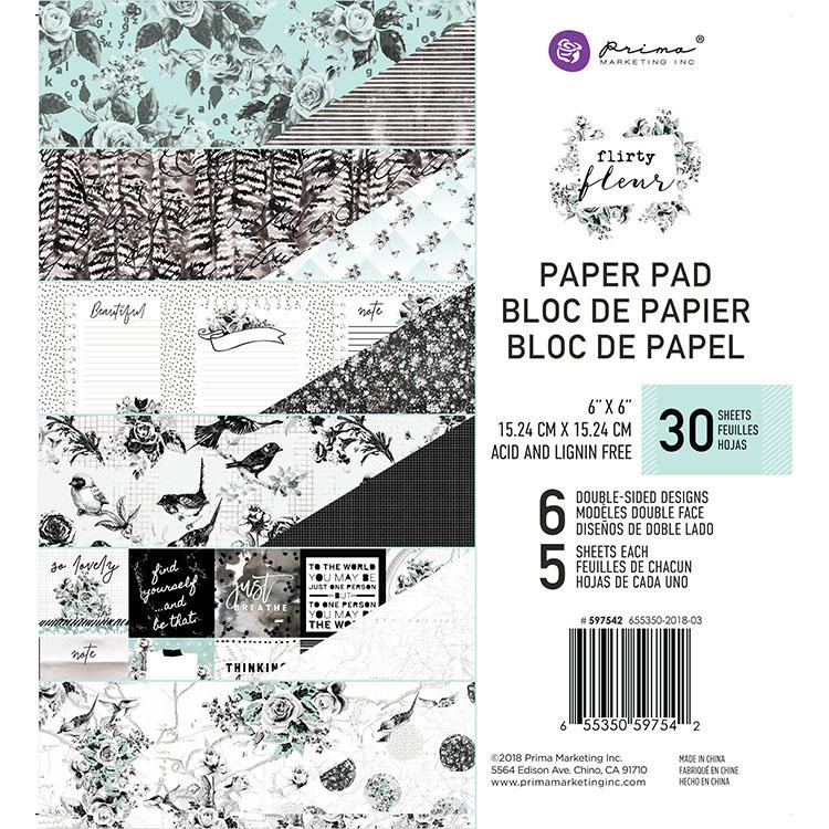 מארז דפי קארדסטוק - Flirty Fleur- 6x6 Paper Pad