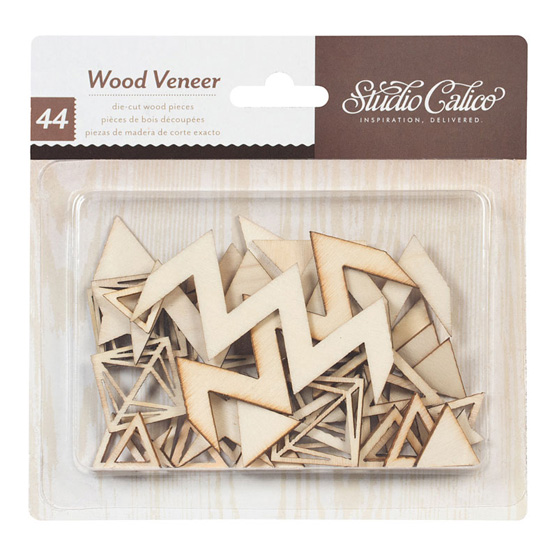 Darling Dear Wood Veneer Pieces - Triangles and Diamonds