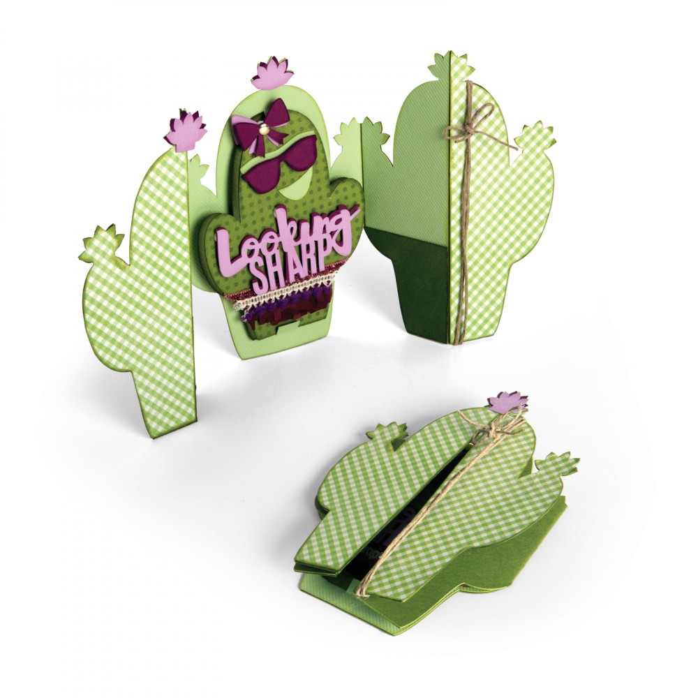 סט תבניות חיתוך - Thinlits Die Set - Card Cactus Fold A Long