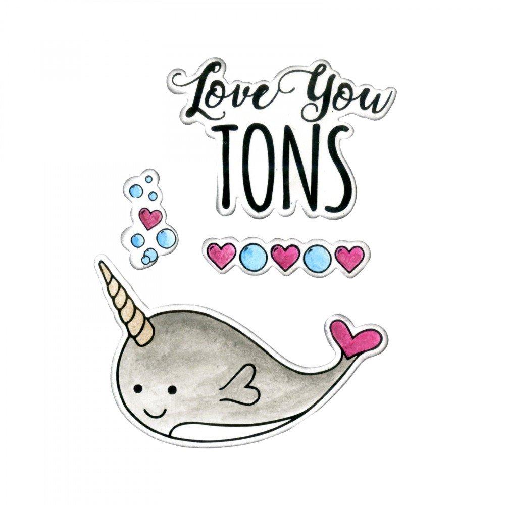 סט תבניות חיתוך וחותמות - Love You Tons
