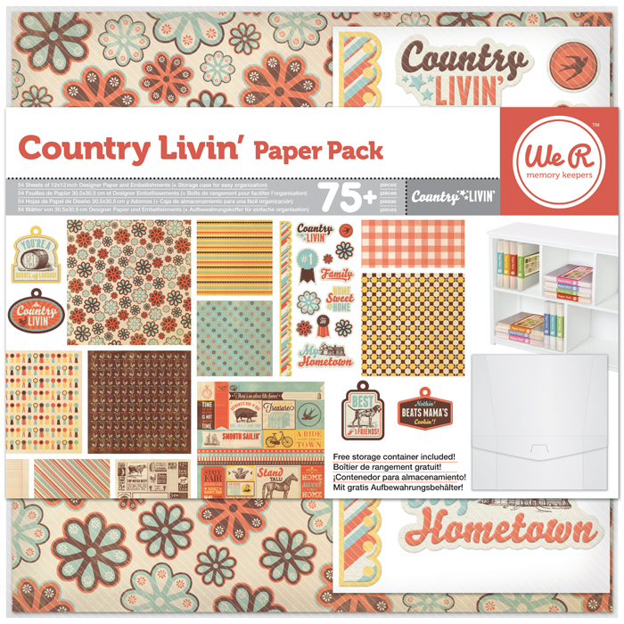 Country Livin' Collection - 12X12 Paper Pack