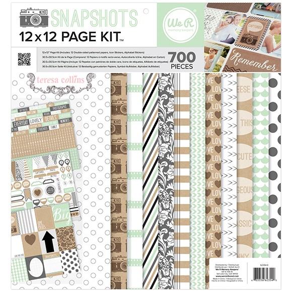 Teresa Collins - 12X12 Page Kit - Snapshots