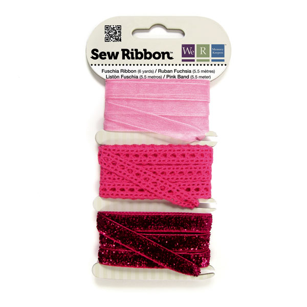 מארז סרטי בד - Sew Ribbon - Ribbon Set Fuschia
