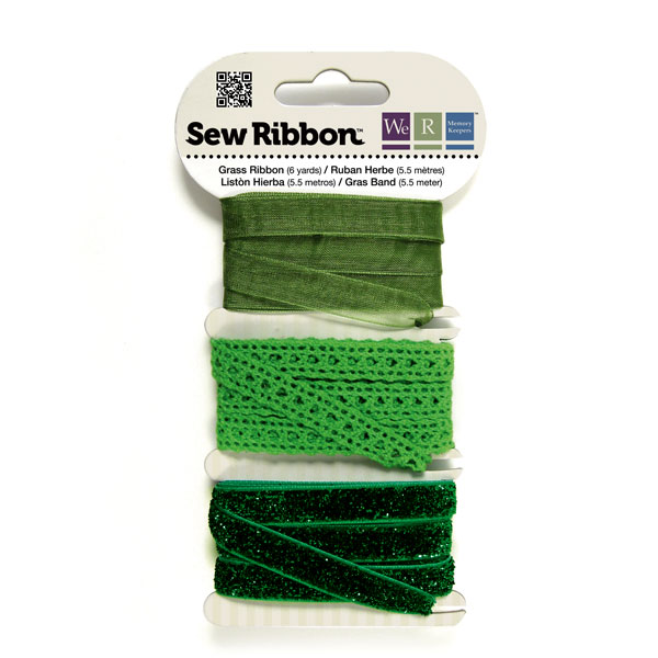 מארז סרטי בד - Sew Ribbon - Ribbon Set Grass
